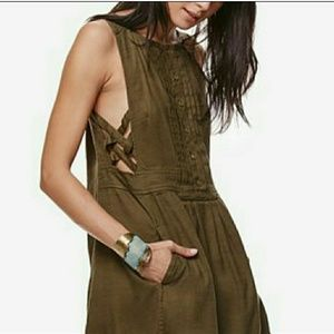 "Free People ""Moonshine Moss"" Mini Dress Sz Small"